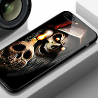Cool Skull Case iPhone 6s 7 8+ X XS XR 11 Pro MAX Tempered Glass Cover