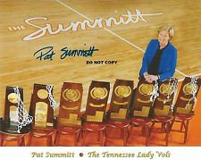 PAT SUMMITT 8X10 AUTHENTIC IN PERSON SIGNED AUTOGRAPH REPRINT PHOTO RP