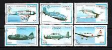 Avions Congo (39) série complète de 6 timbres oblitérés