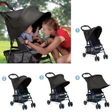 Baby/Child Pushchair Stroller Pram Buggy Sun Shade Canopy Cover Universal Black