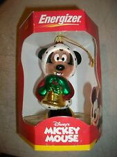 """Disney Minnie Mouse Blown Glass Ornament 4-1/2"""" Energizer Premium"""