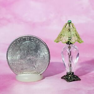 1:24 DollHouse Miniature Lamp Crystal Living Room Table Light Half Inch Scale