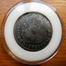 Spain Silver 2 Reale 1781  Carolus III 90% Silver  Awesome Old Coin