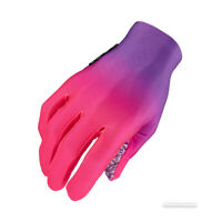 Supacaz SupaG LONG Full Finger Cycling Gloves : GRADIENT NEON PURPLE/NEON PINK
