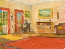 Knud SCHOU (1913-1999) » Interieur mit Person «