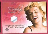 MARILYN MONROE CELEBRITY WORN CHIFFON SCARF LACE MATERIAL SWATCH RELIC CARD 2007