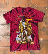 Metallica The Unforgiven Red Tie Dye T Shirt Small