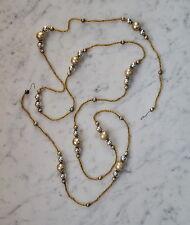 Alter Christbaumschmuck -  Seltene Gablonzer Glasperlenkette - 150 cm  (# 5336)
