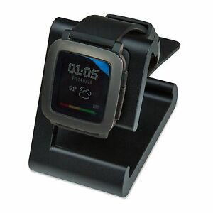 TimeDock Pebble Time Dock for Charging, Stand, Holder Integrated Charger - Black