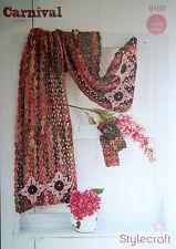 Stylecraft Chunky Crochet Pattern Lace Shawl Scarf Mittens 9160