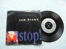 "SAM BROWN STOP A&M RECORDS UK "" VINYL SINGLE in PICTURE SLEEVE"