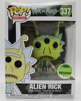 Funko Pop! Rick And Morty #337 2018 Spring Conv Alien Rick + Protector Damaged