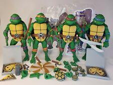 NECA TMNT Cartoon Wave 2 Leonardo & Donatello And Raphael & Michelangelo 2-packs
