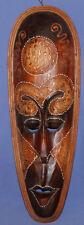 Hand Carved Wood Ornate Wall Decor Head Tribal Mask