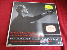 7lp BOX H. V. Karajan Beethoven 9 sinfonie DGG