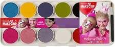 Boîte palette 10 couleurs nacrées et pastels 2 pinceaux 2 éponges et un livret