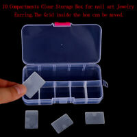 10 Compartments Clear Plastic Storage Box Jewelry Screw Organizer Container G3D
