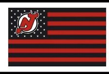 New Jersey Devils 3x5 Foot American Flag NHL Hockey New With Grommets