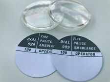 2 x GPO ROTARY DIAL OPAL COVER & NUMBER CARD INSERT (FOR GPO 700 SERIES PHONES)