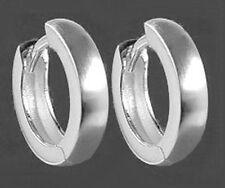 925 ECHT SILBER  ***  Schlichte Creolen  Ohrringe matt 13 mm