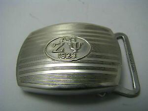 "STERLING SILVER BELT BUCKLE ""TRIPLE PLATE"" SILVER PLATE LOCK ca1920's Excel Cond"