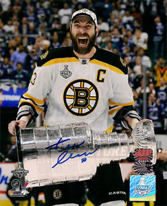 Zdeno Chara Boston Bruins signed autographed screaming with Stanley Cup 16x20