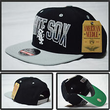 AUTHENTIC NEW SNAP BACK AMERICAN NEEDLE  CHICAGO WHITE SOX MLB BLACK CAP HAT