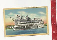 Vintage Coney Island Steamer Island Queen Cincinnati OH post card FREE SHIPPING