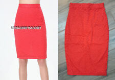 NEW BEBE GEO LACE PENCIL SKIRT BACK SLIT HIBISCUS STYLE # 268190 $69 00