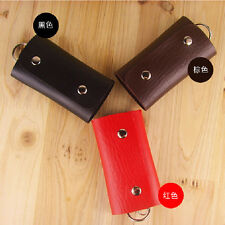 3Color PU Leather Keychain Pouch Bag Wallet Case Purse Keyring Key Holder Keyfob