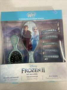New Wet Brush Detangling Accessory Bundle Disney Frozen II Kit with Jelly Bands