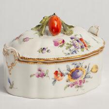 Dresda PORCELLANA FINE dipinti a mano che servono Dish-Corona/SCUDO