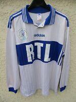 Maillot COUPE DE FRANCE porté n°14 blanc RTL vintage ADIDAS trikot shirt FFF XL
