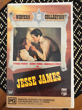 JESSE JAMES TYRONE POWER 1990 CBS FOX ORIGINAL RELEASE AS NEW PAL VHS VIDEO