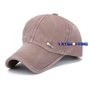 Unisex Mens Womens Baseball Caps Trucker Hip-Hop Sports Adjustable Solid Hats
