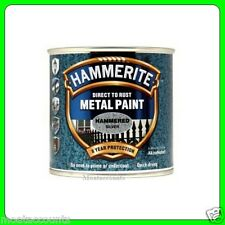 Hammerite Metal Paint, Hammered Silver Finish [5084798] 250 ml