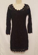 Jump Apparel Womens Size L Long Sleeve Lace Dress Black