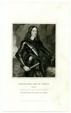 William Kerr Earl Of Lothian, Scottish General/Member Parliament, Engraving 8221