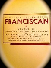 """1937 SAN FRANCISCO STATE UNIVERSITY YEARBOOK """"Franciscan"""" `"""