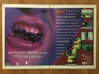 Gex PS1 Playstation 1 Sega Saturn 1996 Vintage Poster Ad Art Print Official Rare