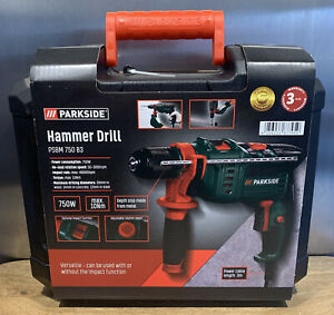 ⭐️Parkside HAMMER DRILL 750W for Drilling in Concrete, Stone, Metal or Wood NEW!