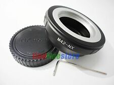 M42 Lens to Samsung NX mount adapter NX1 NX5 NX11 NX20 NX200 NX300 NX1000 + CAP