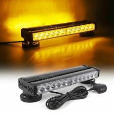 "12"" 24 LED Warning Emergency Double Side Beacon Strobe Roof Mini Lightbar Amber"