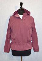 B0 Auth LULULEMON Light Grape Water Repellent Hooded Windbreaker Jacket Size 8