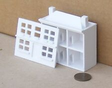1:12th Scale White Painted Wooden Toy Pine House Dolls House Accessory 120