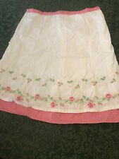 Gymboree Parisian Rose 12 LADIES GIRLS Apron embroidered skirt mommy Easter READ