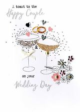 Happy Couple Wedding Day Irresistible Greeting Card Embellished Cards