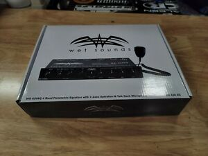 Wet Sounds WS-420 SQ 4-band marine equalizer with microphone New WS-420-SQ