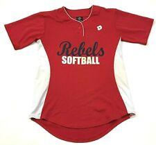 DeMarini Rebels Softball Jersey Size Medium M Red White Henley Short Sleeve Tee