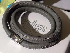 Endless Jewelry 54cm Grey Bracelet Triple Strand Silver Clasp rrp £55